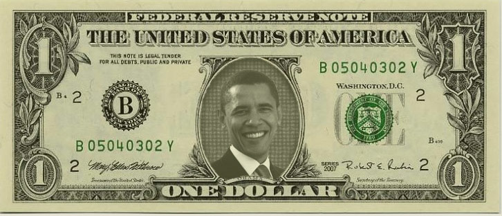 Barack Obama Dollar Bill